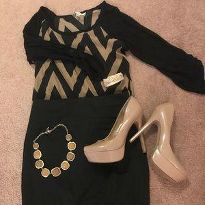 express 00 pencil skirt (black)